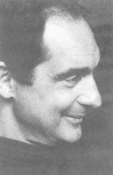 Click to return to ARJ Page,  Photo of Italo Calvino from Cover of If on a Winter's Night, a Traveler