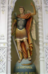 Statue of Archangel Mi-cha-el from St. Joseph's Catholic Church in Gretna, Louisiana, USA taken by Bobby Matherne, Click to Read next Review
