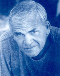 Click to return to ARJ1 Page, Photo of Milan Kundera from Book Jacket of 'Ignorance', Credit and Copyright 1998 by Fridrik Rafusson