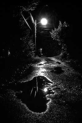 'Alley' Crystal Falls, Michigan, USA, September, 1986, Photo by and Copyright 2010 by Vesa Loikas