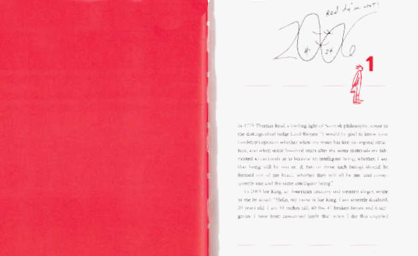 Image of Page 1 and facing page of a Red field
