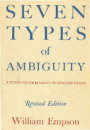 William Empson ambiguity of the first type