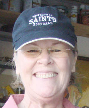Del in her 'Property of SAINTS' cap Nov. 17, 2010,  Photo by & Copyright 2012 by Bobby Matherne