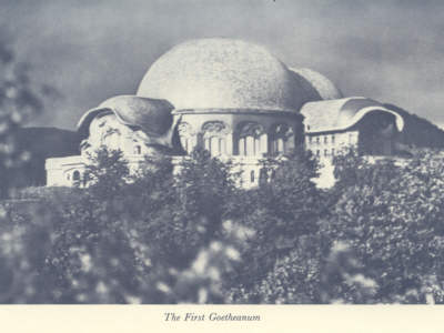 Photo of First Goetheanum from page 63 of book.