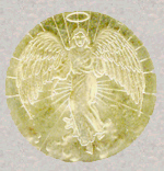 Popular view of how an angel looks as it appears on a Guardian Angel Coin, Scanned by & Copyright 2006 by Bobby Matherne