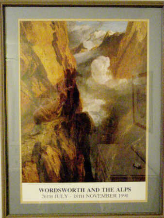 Photo of poster of JWM Turner's landscape painting of St. Gothard's Pass in the Alps, Photo by & Copyright 2007 by Bobby Matherne