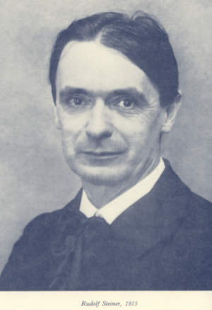 Photo of Rudolf Steiner in the front of the book.