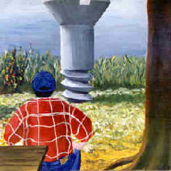 Click here! (Maureen Bayhi's Acrylic, 'Jim Lentini Ponders the Big Screw')