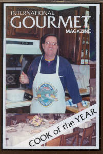 Chef Bobby Jeaux on ersatz Intl Gourment Magazine Cover
