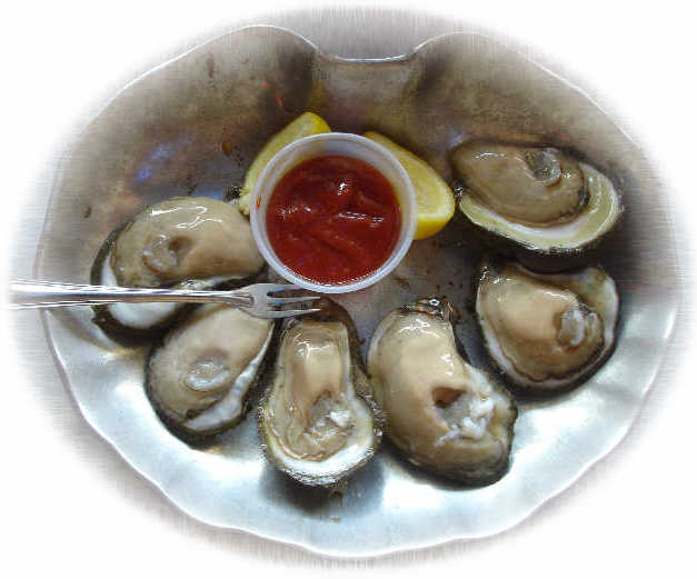 Oysters on the Half-Shell with Bobby Jeaux's Sauce Oysters on the Half-Shell