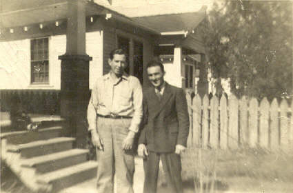 Photo of Slim (Clyde Breaux) and Buster 1942