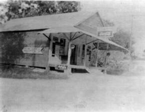 Photo of C.P. Matherne's General Store, Bourg, c1935