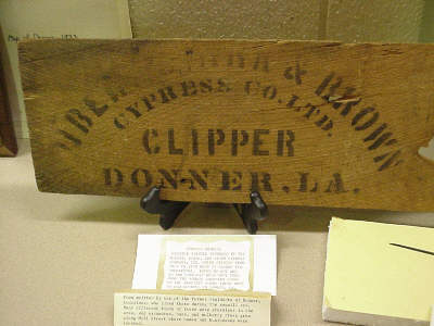 Photo of a cypress plank made by Dibert & Brown Sawmill in Donner, Louisiana