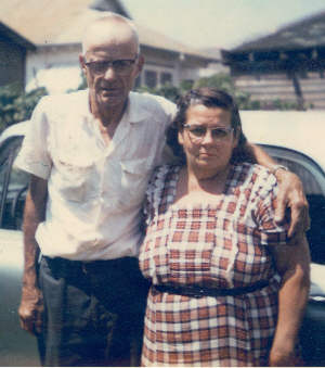 Dennis and Lillian Bonvillain, Dennis was Bobby's Paran or Godfather, Photo taken c. 1955