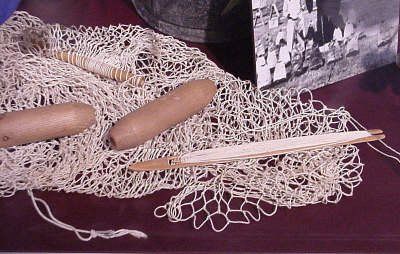 Photo of Tool and Material to create a Castnet, Westwego Museum Display